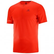 SALOMON - AGILE HZ SS TEE M FIERY RED - MEN
